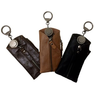 Cow Leather Fastener Key Case