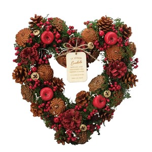 Natural Heart Wreath Christmas