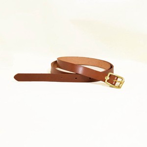 Tochigi Leather Belt Cow Leather Men's Ladies Brown Gold