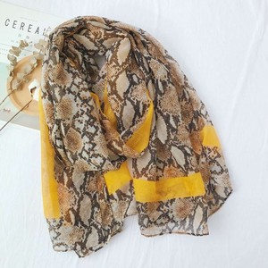 Stole Scarf Large Format Unisex Animal