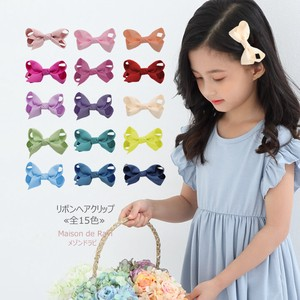 Ribbon Hair Clip 15 Colors Kids Girls Girl Decoration