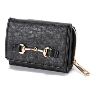 Metal Fittings Trifold Wallet Wallet Ladies Wallet Coin Purse