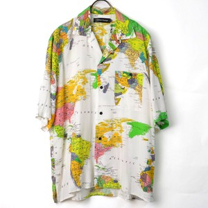 Map Open Color Shirt