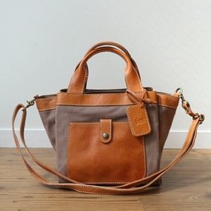 [2019NewItem] Canvas Leather Handbag