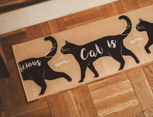 Kitchen Mat Long Mat cat Whale Animal