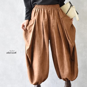 A/W Suede Tuck Deformation Big Pants