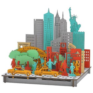 Line New York Cardboard Box Craft Kit
