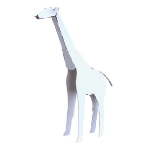 ANIMAL Giraffe Cardboard Box Craft Kit