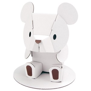 ANIMAL White Cardboard Box Craft Kit
