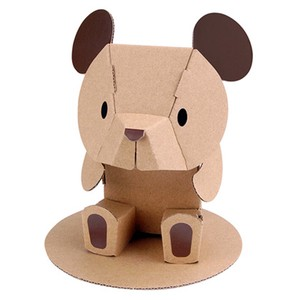 ANIMAL Brown Cardboard Box Craft Kit