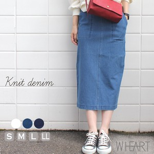 Reinforcement S/S Knitted Denim Twill Skirt