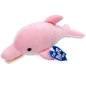 Soft Toy Doll Fluffy Feeling Marshmallow Mascot Dolphin Pink