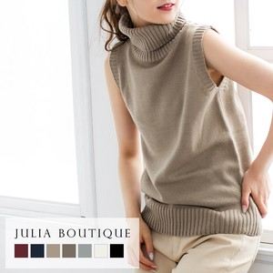 Turtle Neck Sleeveless Knitted Top