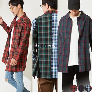 Men's Tartan Check Coat