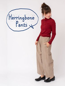 Stretch Twill Herringbone Print Pants