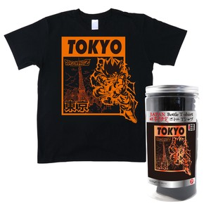Dragon Ball Z Bottle T-shirt Tokyo Black