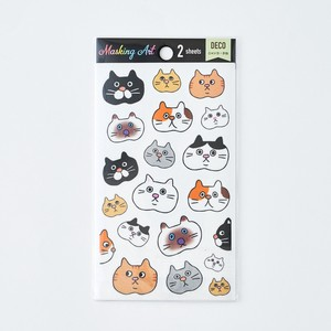 Masking Art Cat Cat Decoration SEAL Japan