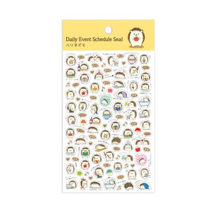 Gold Leaf Hedgehog Schedule Seal Japan
