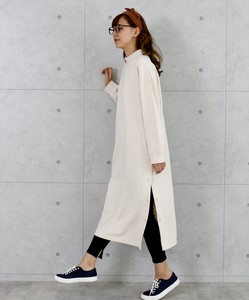 Fleece High Neck Long One-piece Dress