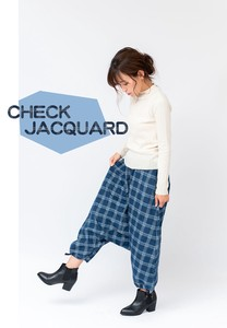 Checkered Denim Guard Sarrouel Pants