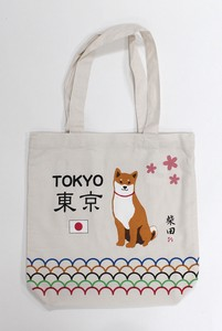 A4 size Tote Bag Inside Pocket Attached Shibatasan Beige