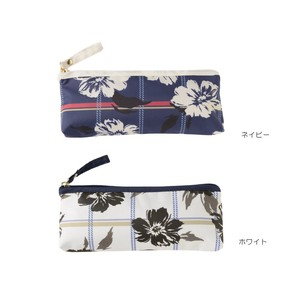 A/W Zipper Pouch Checkered Flower