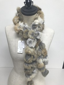 Real Rabbit fur Double Long Scarf