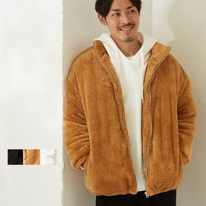 Men's Micro Fleece Big Silhouette Stand Blouson Jacket