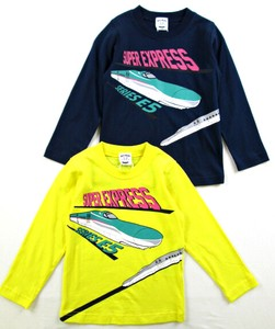 Kids Long Sleeve T-shirt Shinkansen