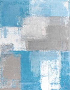 キャンバスパネル Art Panel Grey and Blue Abstract Art Painting
