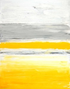キャンバスパネル Art Panel  T30 Galler Grey and Yellow Abstract Art Painting