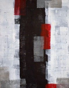 キャンバスパネル Art Panel  T30 Galler Red and Grey Abstract Art Painting