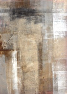 キャンバスパネル Art Panel  T30 Galler Brown and Beige Abstract Art Painting