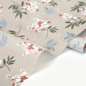 Fabric Wide Thin Cotton Beige Design Fabric Unit