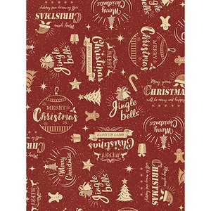 Christmas Wrapper Red Whole Sheet Half Sheet