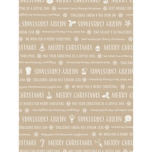 Christmas Wrapper Letter Half Sheet