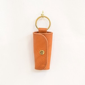 Tochigi Leather Brass Key Case Snap Fastener Camel