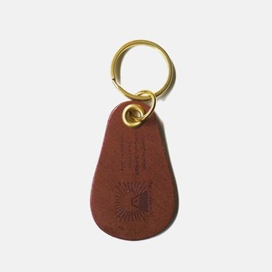 Tochigi Leather Shoehorn Brown Cow Leather Key Ring Attached Men's Ladies Business Brown