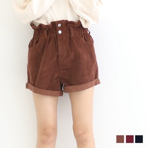 CORDUROY Frill High-waisted Shor Pants