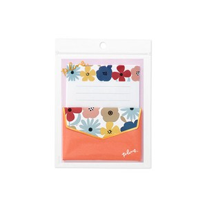 Mini letter Set plune Flower