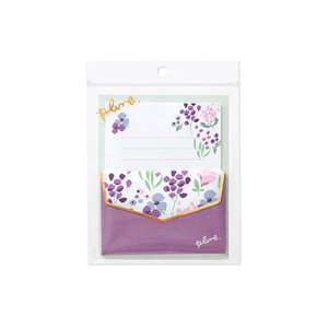 Mini letter Set plune Lavender Flower