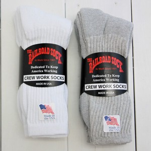 [MADE IN USA]3P CREW WORK SOCKS(ワークソックス/靴下)