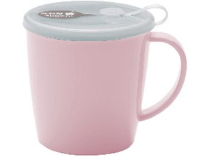 Straw Nursing care Attached Mug Pale Pink