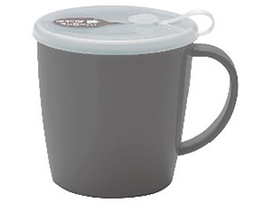 Straw Nursing care Attached Mug Gray