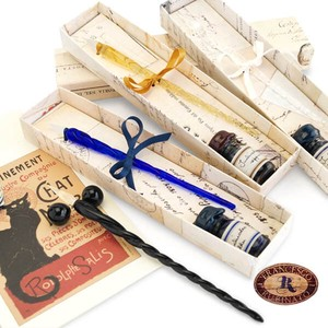 Italy Brand Glass pen Ink Set Present