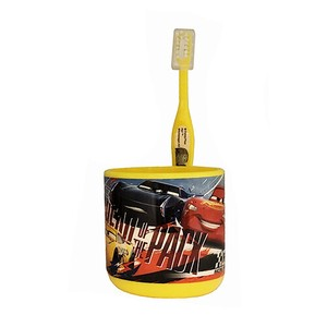 Stand Cup Toothbrush Set Car's