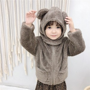 Children's Clothing Top Fleece With Hood Kids Casual Korea
