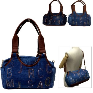 Decoration Denim Overnight Bag