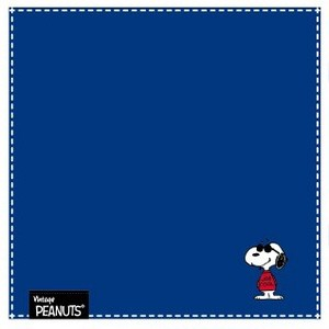 Snoopy Stripe Mini Towel Navy