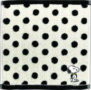 Next Time Undecided Snoopy Mono Tone Mini Towel Dot